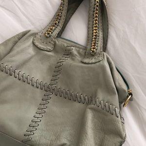 Carla Mancini leather purse in seafoam/moss color